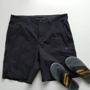 The North Face charcoal shorts size 36